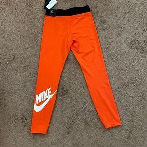 Orange Nike Leggings